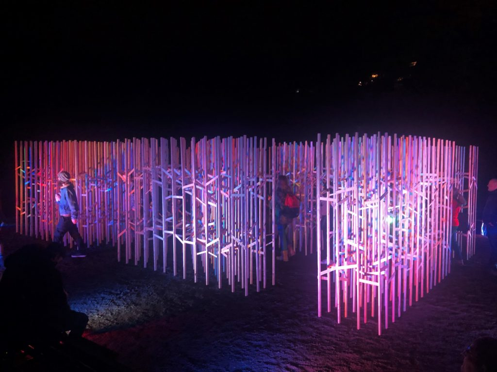 "In this image: The ""Luminous Cloud"" installation at Nocturne 2019."