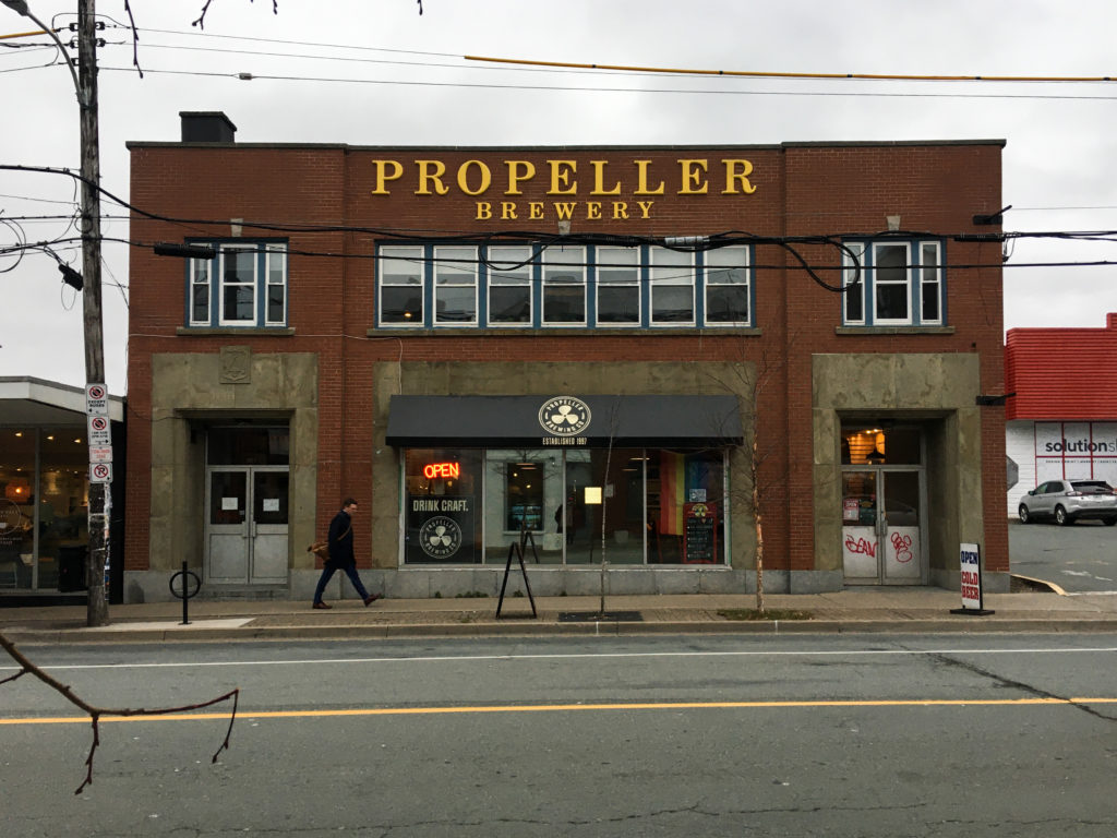 In this image: Propeller Brewery on Gottingen Street.