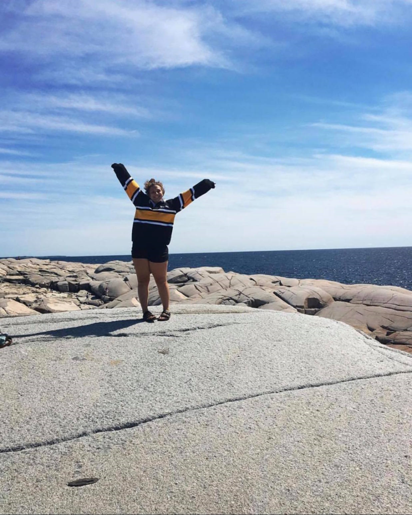 In this image: Halle Denardis at Peggy's Cove.