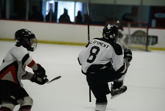 In this image: Luke Dyment pictured playing hockey.