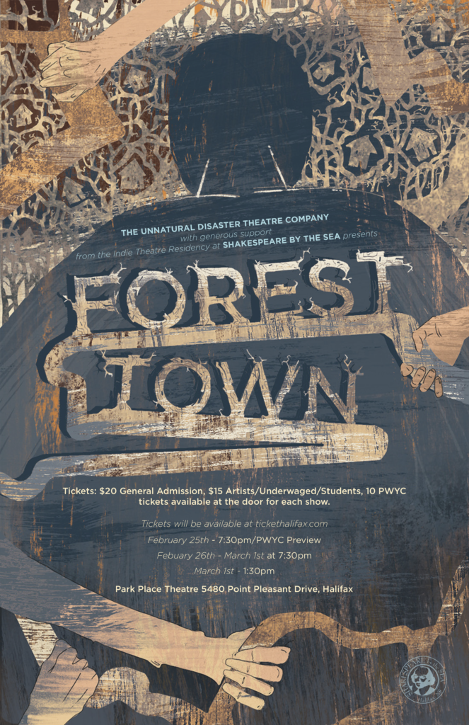 In this image: Forest Town's poster.