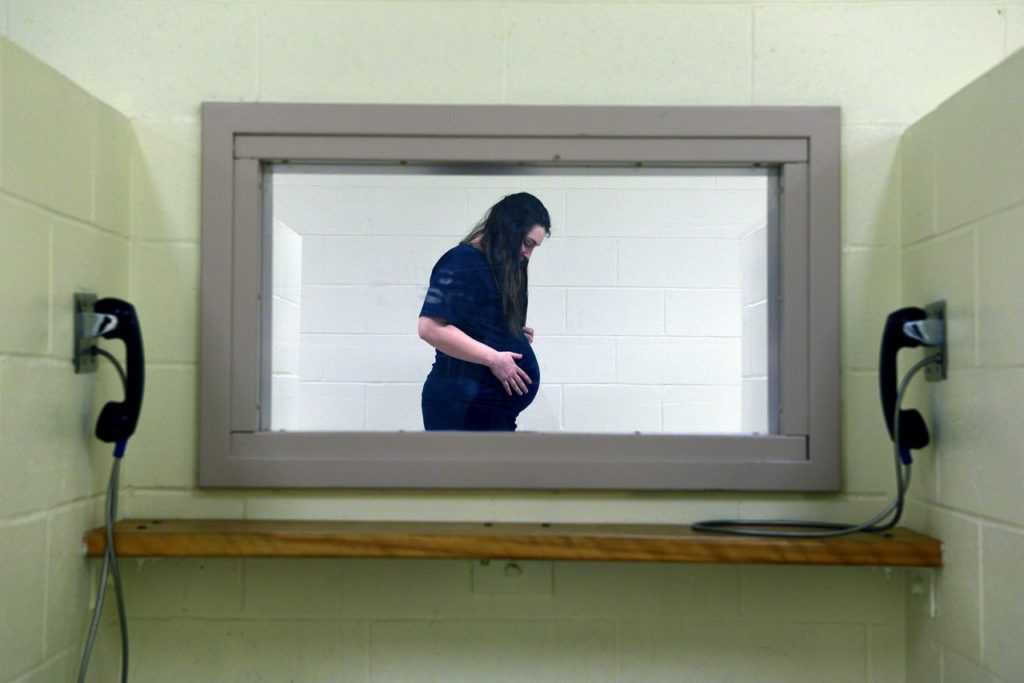 In this image: A still from the film Conviction.