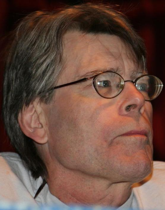 In this image: Stephen King.