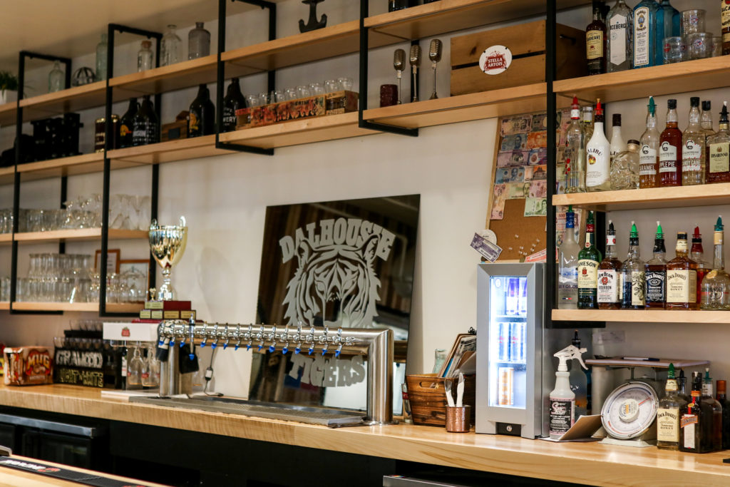 In this image: The Grawood's bar.