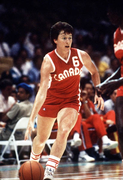 In this image: Anna Stammberger dribbling the ball for Team Canada.