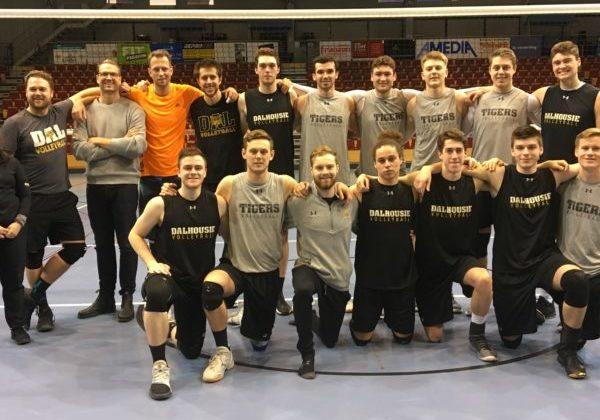 Dalhousie University's men's volleyball team.