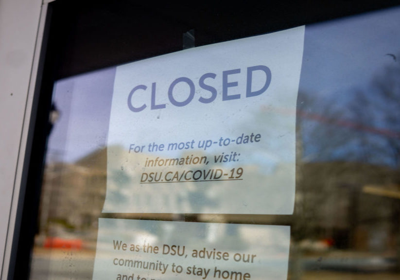 The Student Union Building closed, following reported COVID-19 cases in N.S.