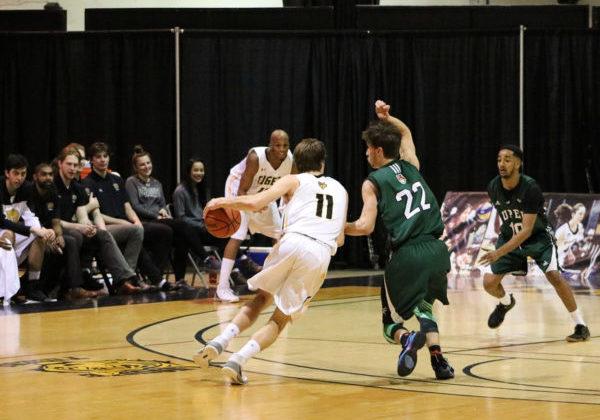 The Dalhousie men's basketball team took on the University of Prince Edward Island on Jan. 19. The Tigers won 94-55.