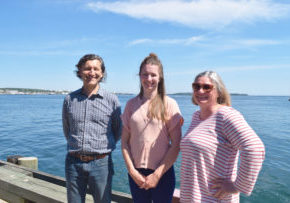 From left to right: James Gunvaldsen Klaassen (staff lawyer), Sarah McDonald (staff lawyer) and Genevieve Rondeau (legal administrative assistant and office administrator).
