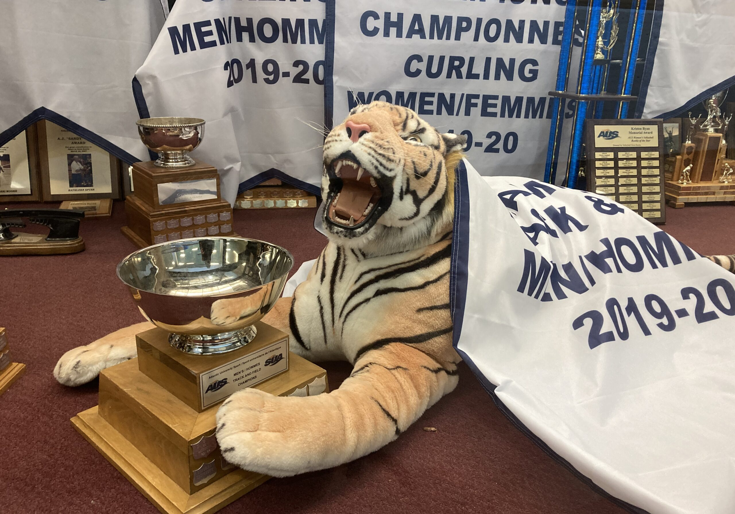 Although no trophies like this one will be up for grabs this season, Dal and two other AUS  schools will share the year's biggest victory: the chance to play. (Photo by Luke Dyment)