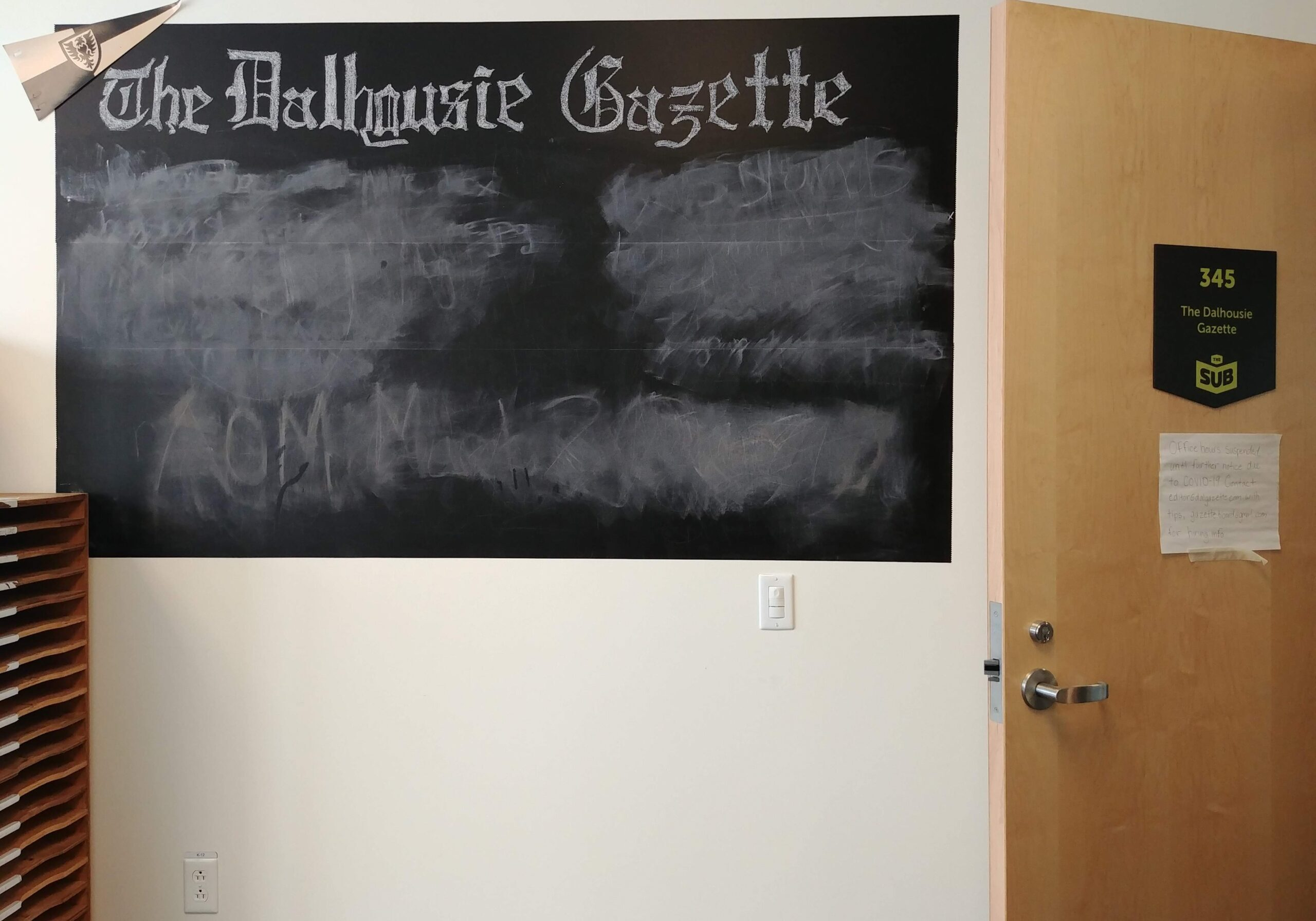 In this image: Dalhousie Gazette office