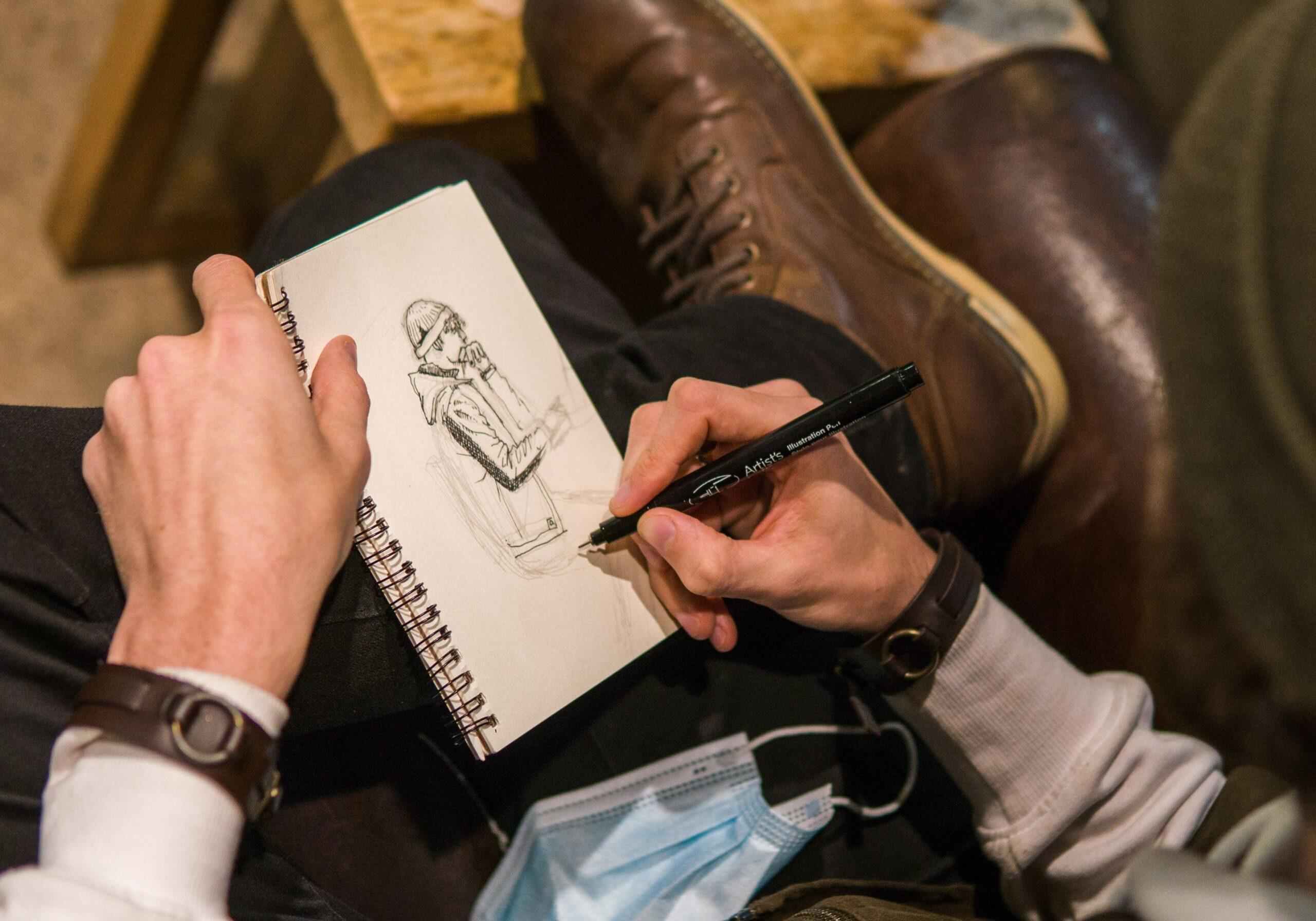 Max Macaulay is a Halifax-based artist who has had videos of his artwork go viral recently, garnering an impressive 220K followers on his TikTok @slick.skills. (Photo by Geoffrey Howard)