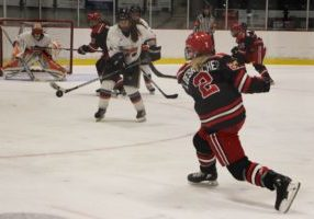 The University of New Brunswick's Reds took on the CEGEP Rimouski Pionnieres on Sept. 15 and 16.