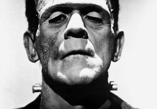 A promotional photo of Boris Karloff as Frankenstein's monster for the film Frankenstein (1931). Jack Pierce was the make-up artist.